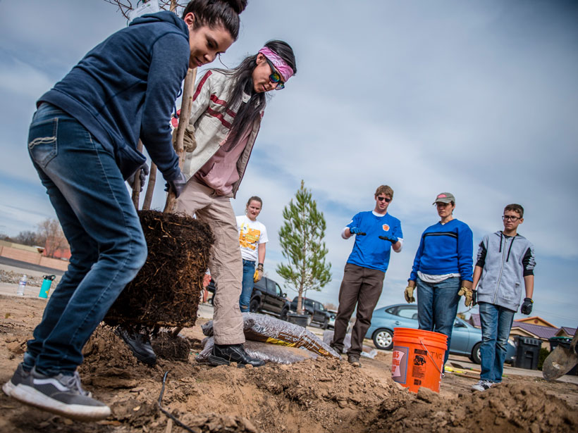 Albuquerque engages youth in nature-based solutions to promote health and create climate resilience.