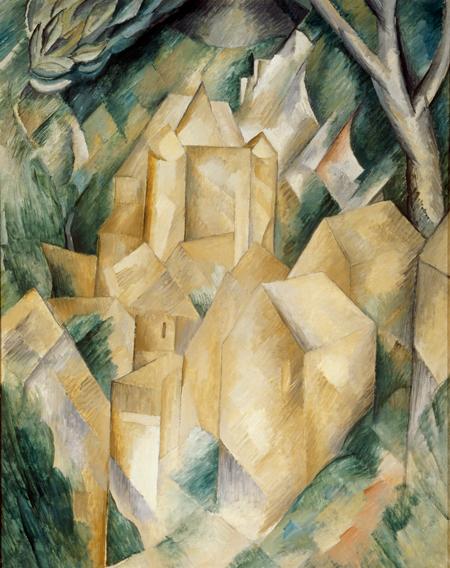 Georges Braque's Cubist painting The Castle of La Roche-Guyon