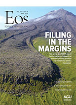 cover of April 2021 issue of Eos