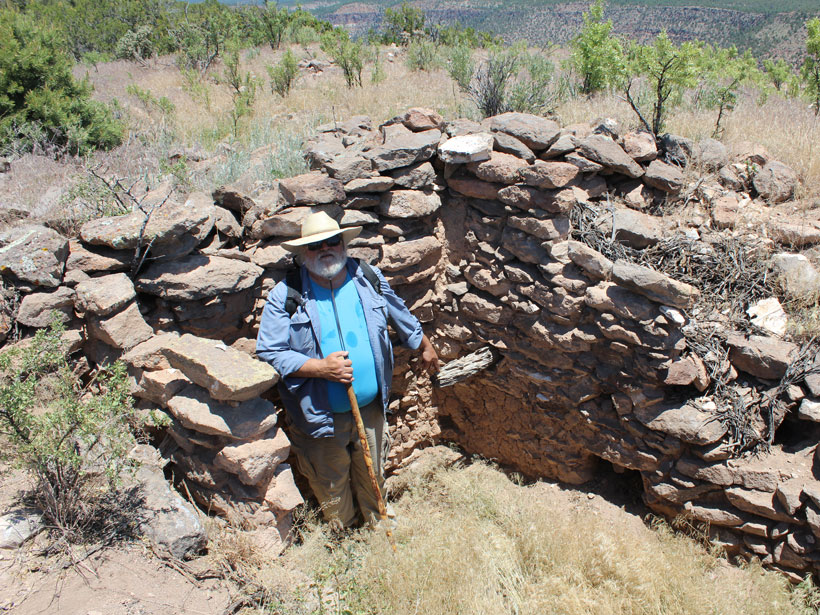 Tree ring scientist Thomas Swetnam dates an archaeological ruin in the Jemez Mountains.