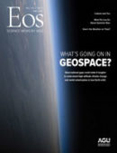 Cover of the May 2021 issue of Eos