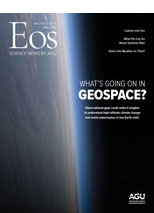 cover of May 2021 issue of Eos