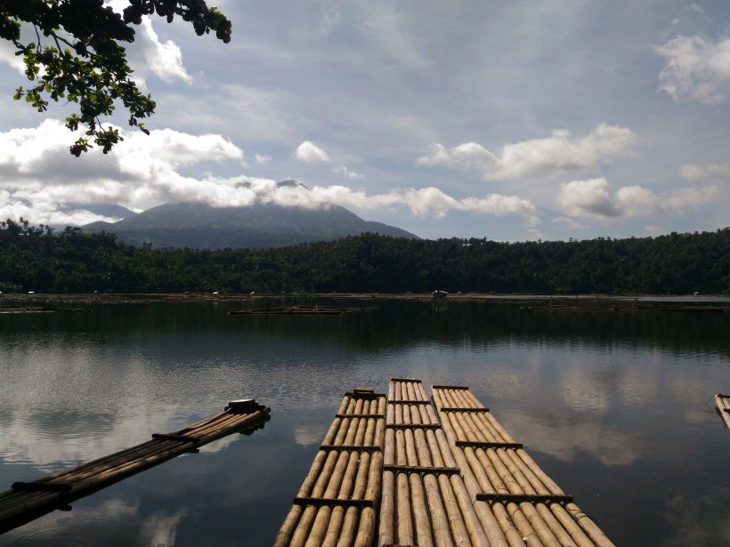 Lake Calibato, a topical lake in the Philippines