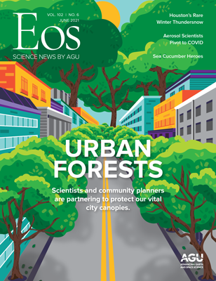 cover of June 2021 Eos