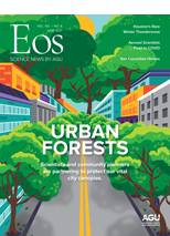 cover of June 2021 issue of Eos
