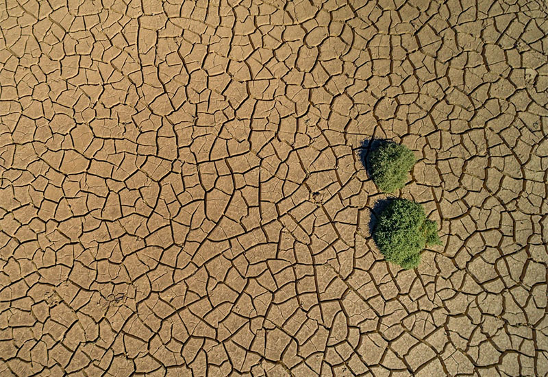 Parched land in Death Valley, California.