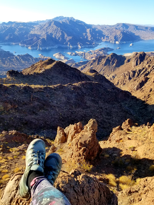 Lake Mead as seen from a mountaintop vantage point