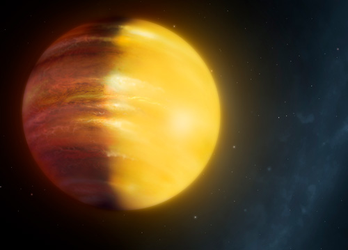Illustration of exoplanet HAT P-7 b