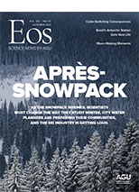 cover of October 2021 issue of Eos