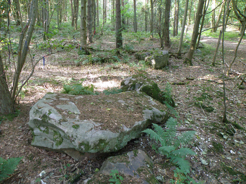 Large sarsen stone at West Woods in Wiltshire